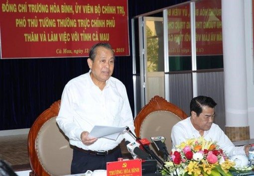 Deputy PM asks Ca Mau to expand marine-based economy