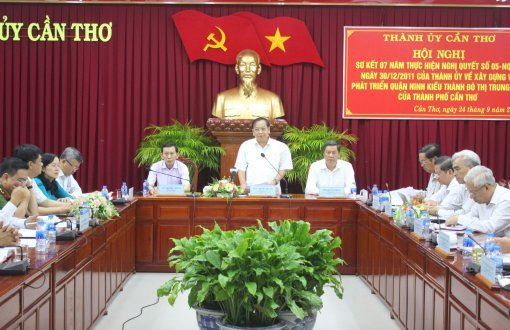 Conference reviews Ninh Kieu development as hub of Can Tho