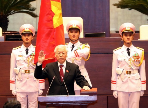 Party chief Nguyen Phu Trong elected as State President